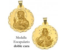 MEDALLA ESCAPULARIO DE ORO 18 KILATES 42 MM