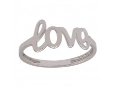 ANILLO DE LOVE EN ORO BLANCO 18 KILATES