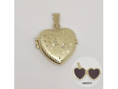 GUARDAPELO DE CORAZON EN ORO 18 KILATES