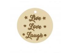 ABALORIO LIVE LOVE LAUGH EN ORO