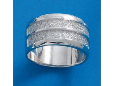 ANILLO DE ORO BLANCO Y DIAMANTES